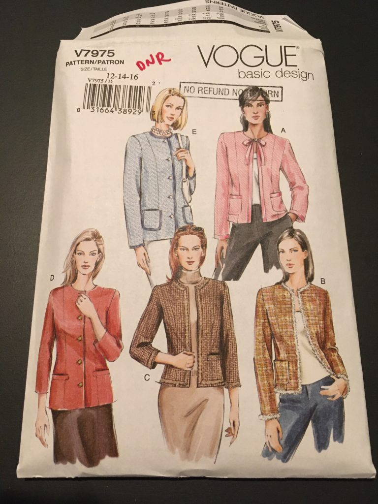 Vogue 7975 Pattern Cover